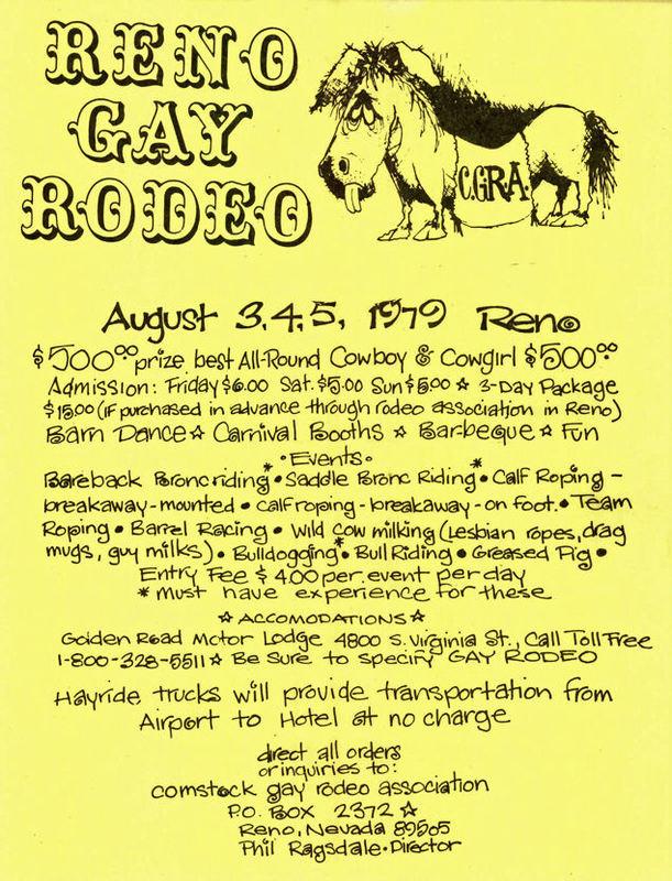 Reno Gay Rodeo Flyer