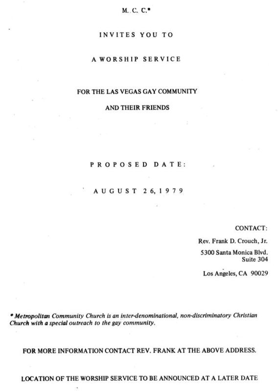Planned Worship Service, 1979