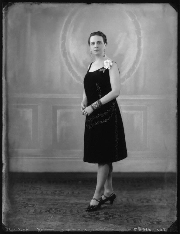 Edna Thomas in Black Dress