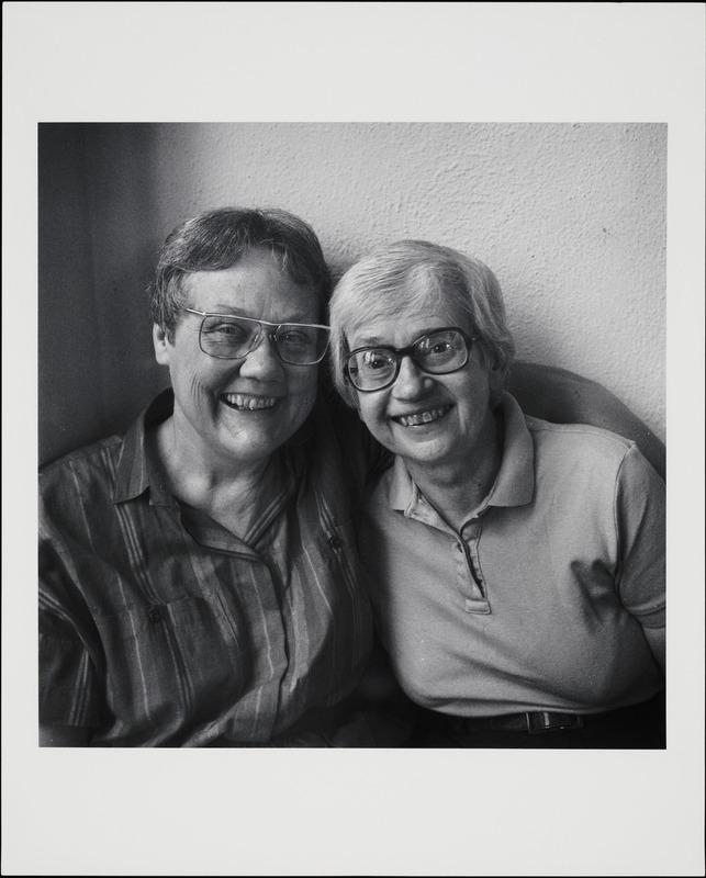 Kay Lahusen and Barbara Gittings, 1991