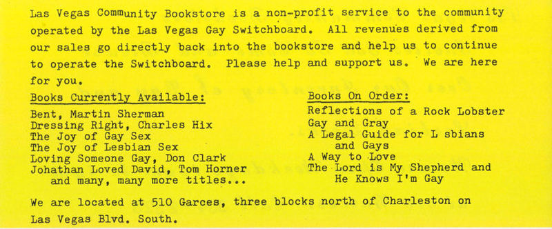 Community Bookstore, 1984