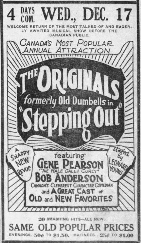 1925-12-06 Originals, Steping Out, advert Calgary Daily Herald, December 6, 1924, 11.jpeg