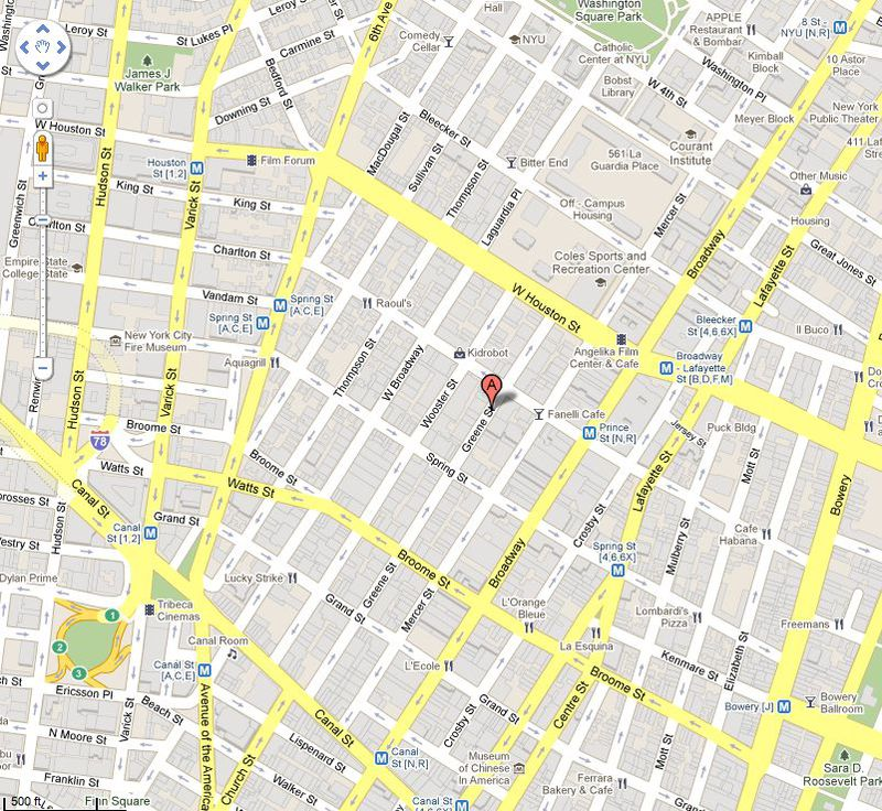 Greene Street map