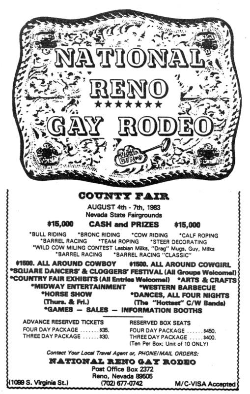 National Reno Gay Rodeo Ad