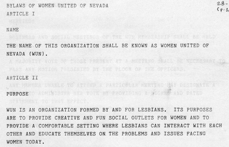 WUN Bylaws 1993