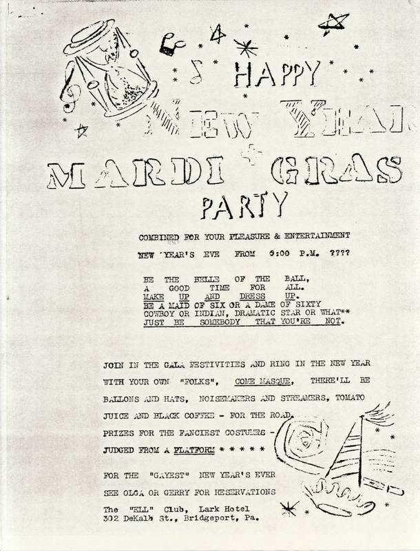 Ell Club Mardi Gras Party Poster