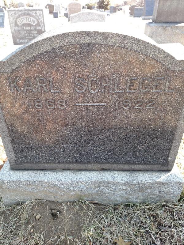 Carl Schlegel's Gravestone