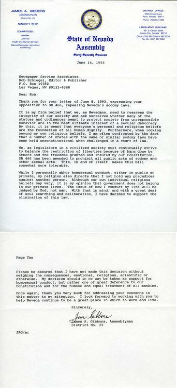 Jim Gibbons Letter