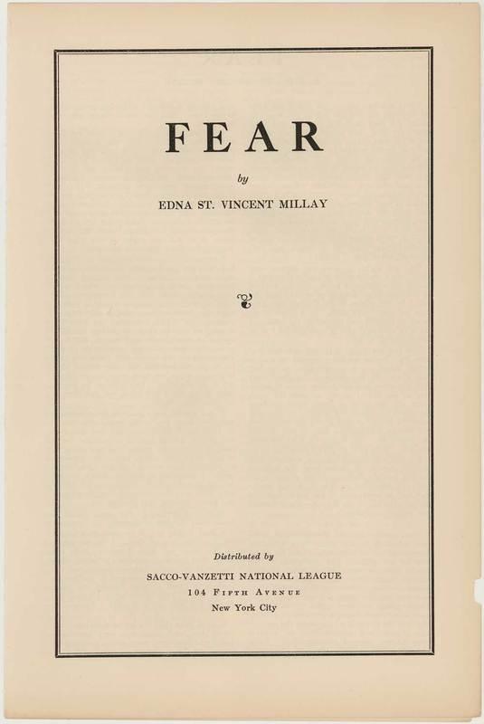 RVPM Millay Fear