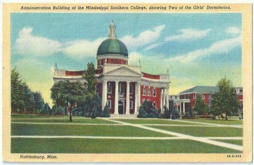 Mississippi S. College pst crd.jpg
