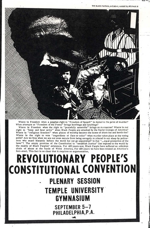 Revolutionary People's Convention, Advertisement