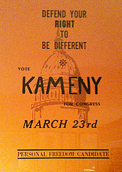 Kameny for Congress Poster