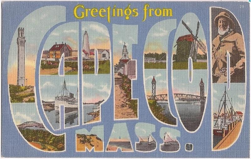 Cape Cod - Vintage Postcard (1950)