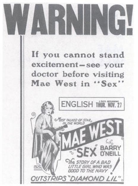 "1927-00-00 West, Mae, SEX ""Warning"" poster.jpg"