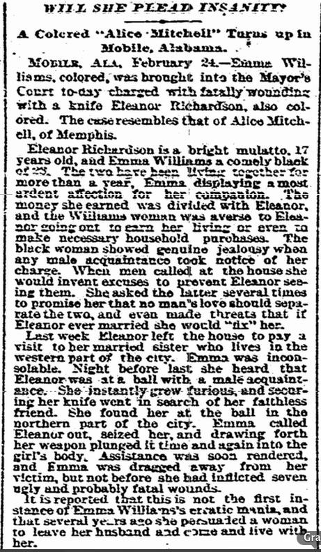 Williams murder, Charleston News, 2/25/1895