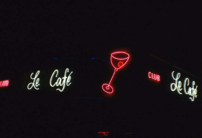 Le Cafe Neon Sign