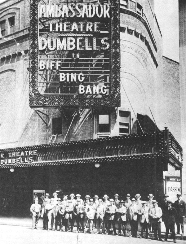 "1921 Dumbells troupeAmbassador Theatre, NY, during ""Biff, Bing, Bang"", 1921. Dept. of National Defence/Library and Archives Canada..jpg"