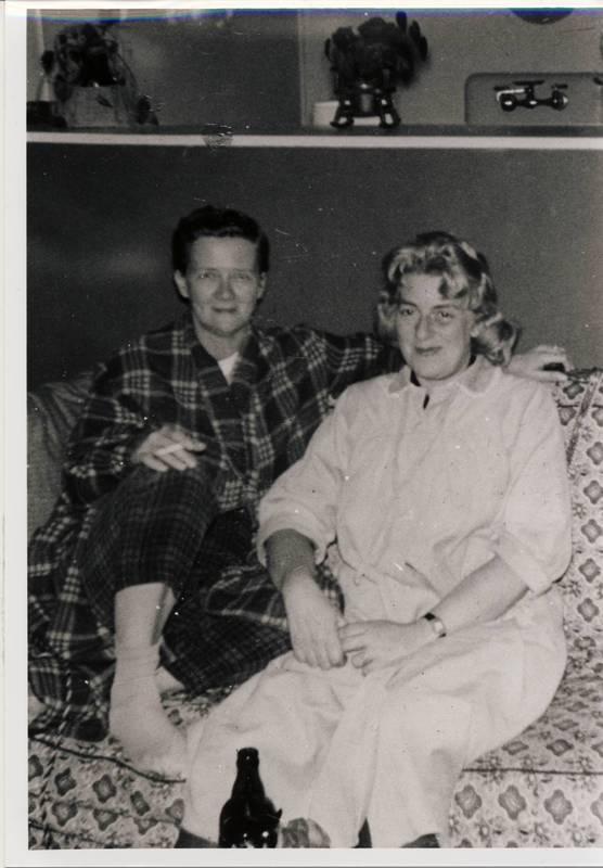 Joey Hardman and Mae Polakoff, 1961