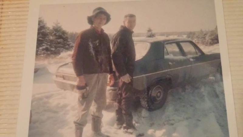 Clive and Brother in Snow 1968