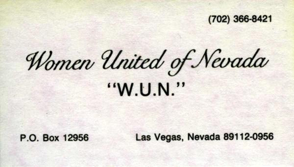 WUN Business Card, 1980s