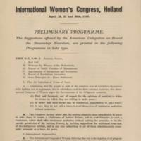 RVPM Addams Leaflet: International Women's Congress, Holland