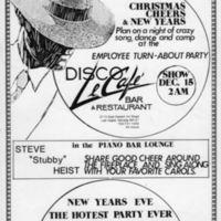 Disco Le Cafe Show Flyer