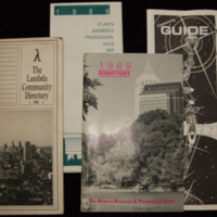 Atlanta Gay Guides 1986-1989 AARL