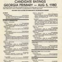 First Tuesday candidates rating 1980 AHC