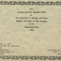 GAU Fundraising, 1984