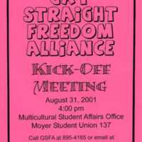 Gay Straight Freedom Alliance Flyer