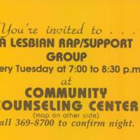 Lesbian Support Group, 1993