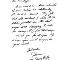 Resignation Letter, 1983