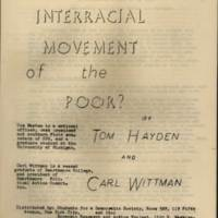 RVPM Wittman An Interracial Movement of the Poor