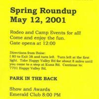 Idaho Gay Rodeo Flyer 2001
