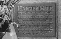 Harvey Milk's grave